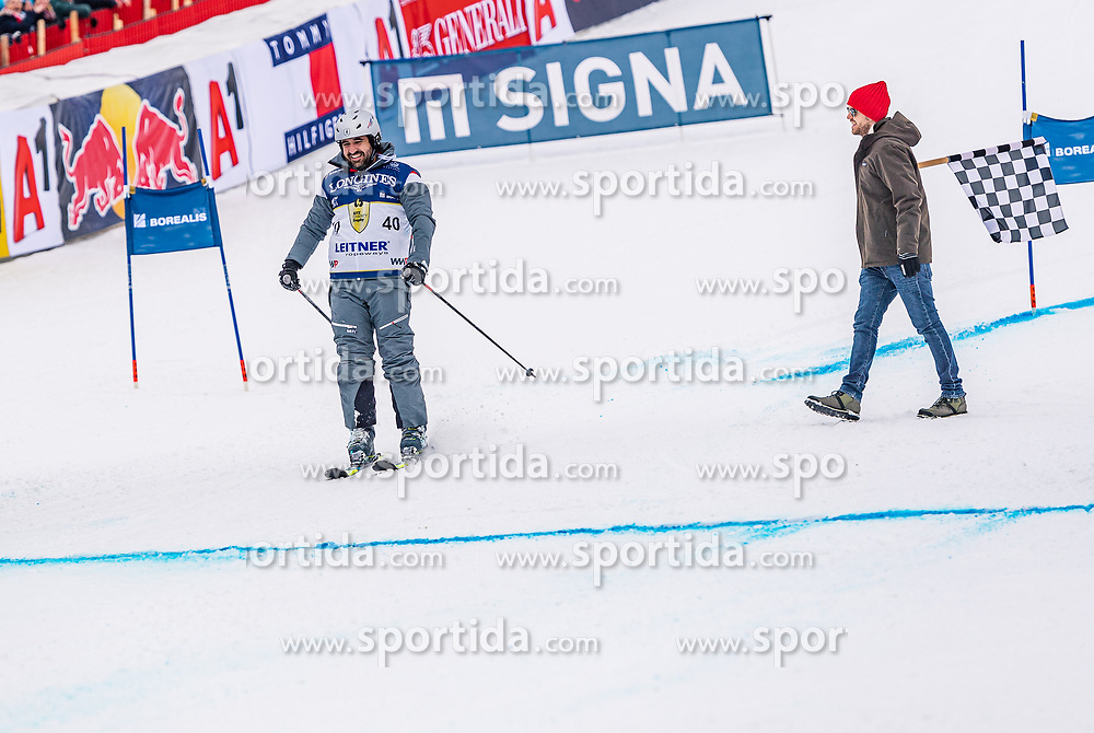 25.01.2020, Streif, Kitzbühel, AUT, FIS Weltcup Ski Alpin, im Rahmen der KitzCharityTrophy 2020 am Samstag, 25. Jänner 2020, auf der Streif in Kitzbühel. // f.l. Jorge Abed and Sebastian Vettel during the KitzCharityTrophy 2020 at the Streif in Kitzbühel, Austria on 2020/01/25, im Bild v.l. Jorge Abed, Sebastian Vettel // f.l. Jorge Abed and Sebastian Vettel during the KitzCharityTrophy 2020 at the Streif in Kitzbühel, Austria on 2020/01/25. EXPA Pictures © 2020, PhotoCredit: EXPA/ Stefan Adelsberger