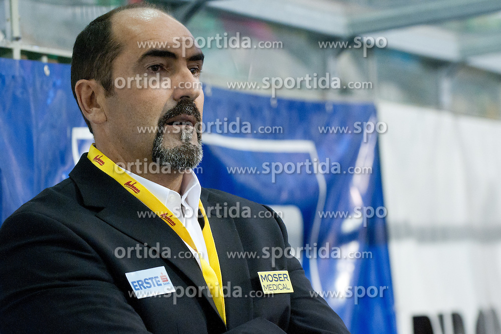 Mario Richer, head coach of Moser Medical Graz 99ers, during ice-hockey match between HDD Tilia Olimpija and Moser Medical Graz 99ers in 2nd Round of EBEL league, on September 11, 2011 at Hala Tivoli, Ljubljana, Slovenia. (Photo By Matic Klansek Velej / Sportida)