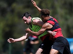 Greg Cunningham of Bristol City battles for the ball with Bobby Reid of Bristol City  - Photo mandatory by-line: Joe Meredith/JMP - Mobile: 07966 386802 - 16/07/2015 - SPORT - Football - Albufeira -  - Pre-Season Training