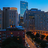 Beantown skyline photography from Boston photographer Juergen Roth showing the Boston Statler Park, Park Plaza hotel Boston and John Hancock Tower lined along Columbus Avenue in the Back Bay. The left features a rental apartment complex. <br /> <br /> Boston skyline photos of are available as museum quality photo prints, canvas prints, wood prints, acrylic prints or metal prints. Fine art prints may be framed and matted to the individual liking and decorating needs:<br /> <br /> https://juergen-roth.pixels.com/featured/boston-back-bay-park-plaza-hotel-juergen-roth.html<br /> <br /> All digital Boston skyline photography images are available for photo image licensing at www.RothGalleries.com. Please contact me direct with any questions or request.<br /> <br /> Good light and happy photo making!<br /> <br /> My best,<br /> <br /> Juergen<br /> Prints: http://www.rothgalleries.com<br /> Photo Blog: http://whereintheworldisjuergen.blogspot.com<br /> Instagram: https://www.instagram.com/rothgalleries<br /> Twitter: https://twitter.com/naturefineart<br /> Facebook: https://www.facebook.com/naturefineart
