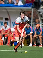 WAALWIJK -  RABO SUPER SERIE. Seve van Ass (Ned) tijdens  de hockeyinterland heren  Nederland-India,  ter voorbereiding van het EK,  dat vrijdag 18/8 begint.  COPYRIGHT KOEN SUYK