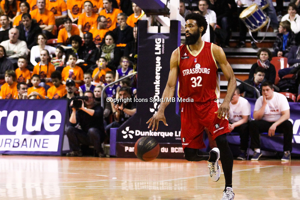 Anthony DOBBINS - 19.01.2015 - Gravelines Dunkerque / Strasbourg - 17e journee Pro A<br /> Photo : Alain Christy / Icon Sport