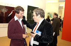 Left to right, COUNT MANFREDIE DELLA GHERARDESCA and NORMAN ROSENTHAL at a private view of the 2004 Frieze Art Fair - a major exhibition attended by most of the leading contempoary art dealers held in Regents Park, London on 14th October 2004.NON EXCLUSIVE - WORLD RIGHTS