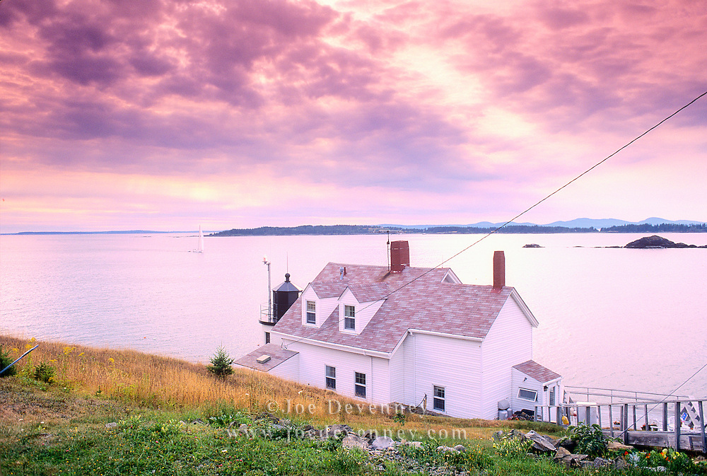 Brown's Head, Lighthouse on Vinalhaven Island in Penobscot Bay. maine