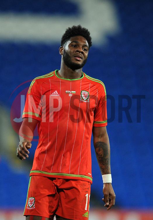 Ellis Harrison of Wales u21s (Bristol Rovers) - Photo mandatory by-line: Dougie Allward/JMP - Mobile: 07966 386802 - 31/03/2015 - SPORT - Football - Cardiff - Cardiff City Stadium - Wales v Bulgaria - U21s International Friendly