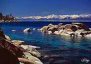 Lake Tahoe Scenic Summer Shoreline with Rocks