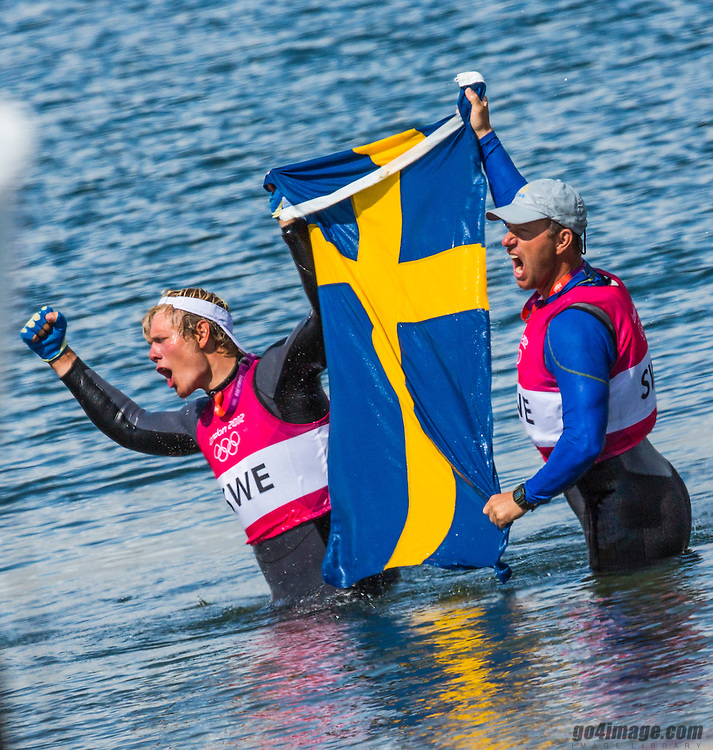 GOLD medal Star class<br /> Loof Fredrik, Salminen Max, (SWE, Star)<br /> <br /> <br /> 2012 Olympic Games <br /> London / Weymouth