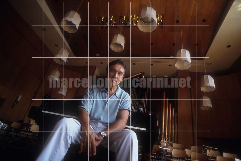 Music conductor Claudio Abbado. Bolzano 1991 / Il direttore d'orchestra Claudio Abbado. Bolzano 1991 - © Marcello Mencarini