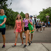 August 21, 2016, New Haven, Connecticut: <br /> Fans walk toward the stadium during WTA All-Access Hour on Day 3 of the 2016 Connecticut Open at the Yale University Tennis Center on Sunday, August  21, 2016 in New Haven, Connecticut. <br /> (Photo by Billie Weiss/Connecticut Open)