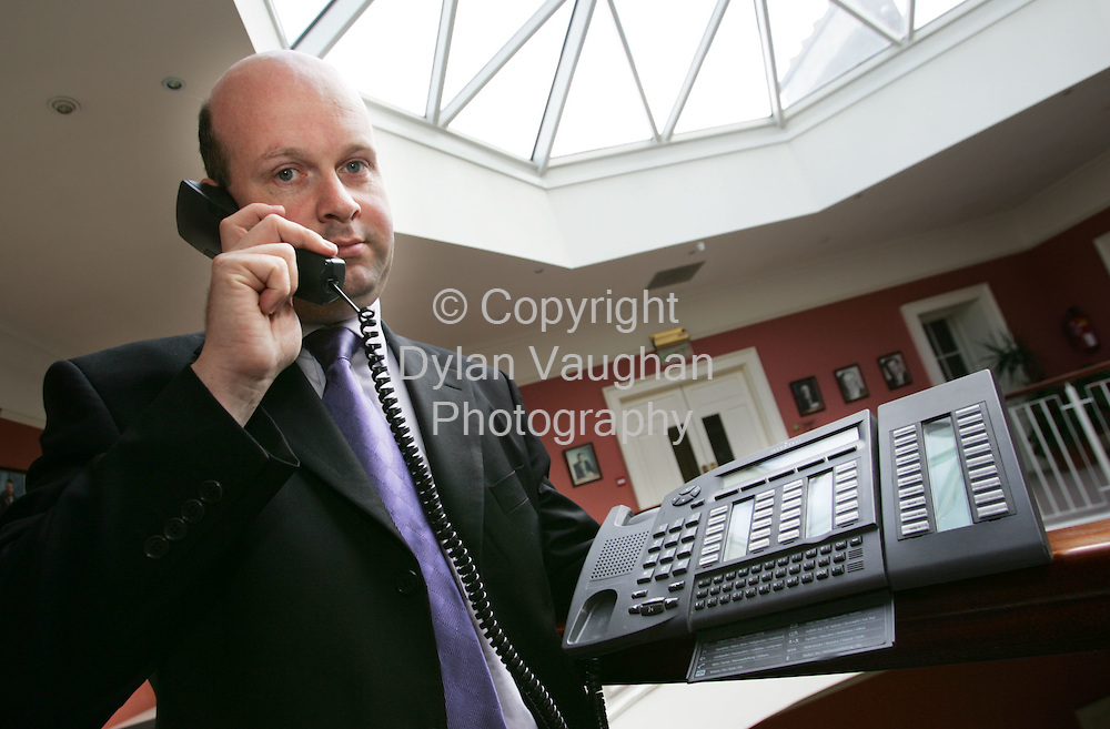26/8/2004.Kevin Hanley Head of Information Systems with Kilkenny County Council pictured with the new phone system at Kilkenny County Hall..Picture Dylan Vaughan