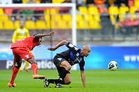 FOOTBALL - FRENCH CHAMPIONSHIP 2011/2012 - LE MANS FC v SC BASTIA   - 4/05/2015 - PHOTO PASCAL ALLEE / DPPI - JACQUES DESIRE PERIATAMBEE (BASTIA) / PATRICK CLAUDE ENKENG EKENG (LE MANS)