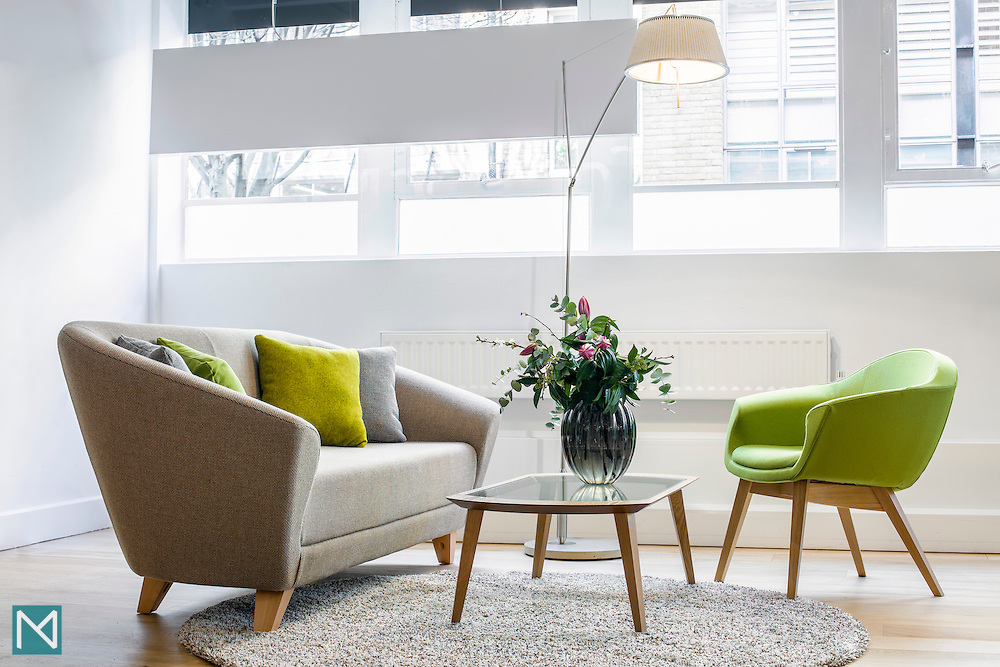 Office seating in the Clerkenwell showroom of Connection Seating