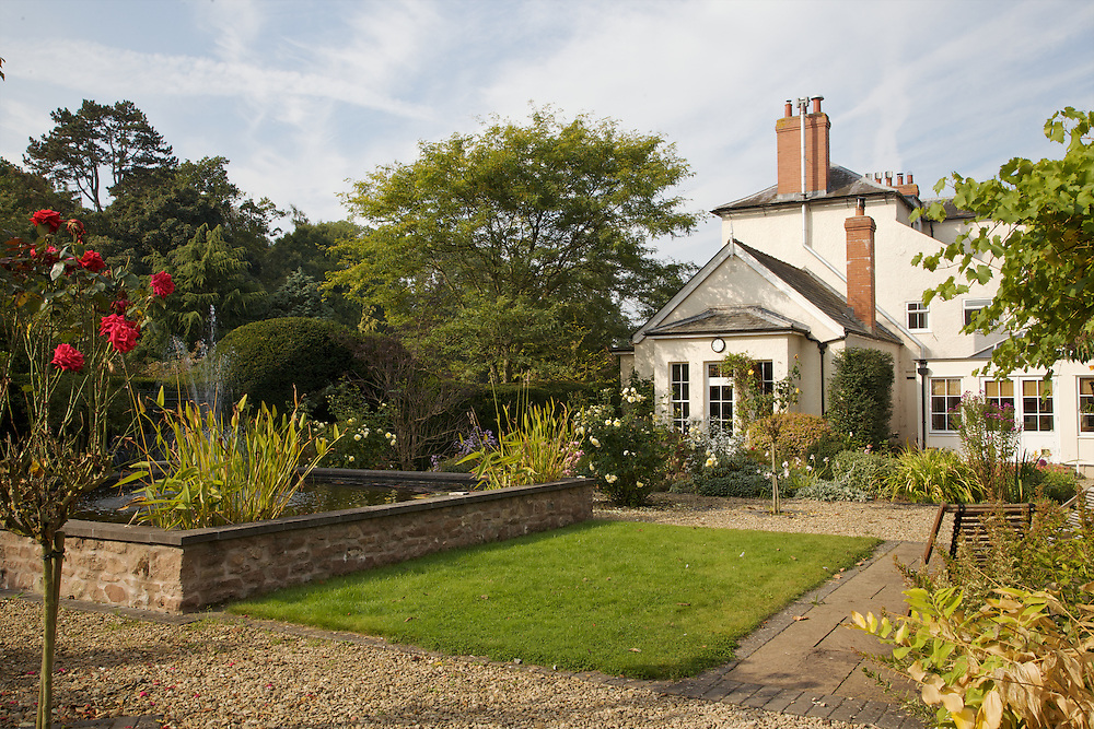 The back garden and view to the house at Will Gissane's Herefordshire home<br /> CREDIT: Vanessa Berberian for The Wall Street Journal<br /> HOBBY-Gissane/UK