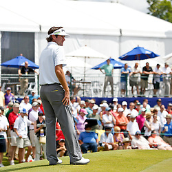 Apr 27, 2012; Avondale, LA, USA; Bubba Watson on the 9th hole during the second round of the Zurich Classic of New Orleans at TPC Louisiana. Mandatory Credit: Derick E. Hingle-US PRESSWIRE