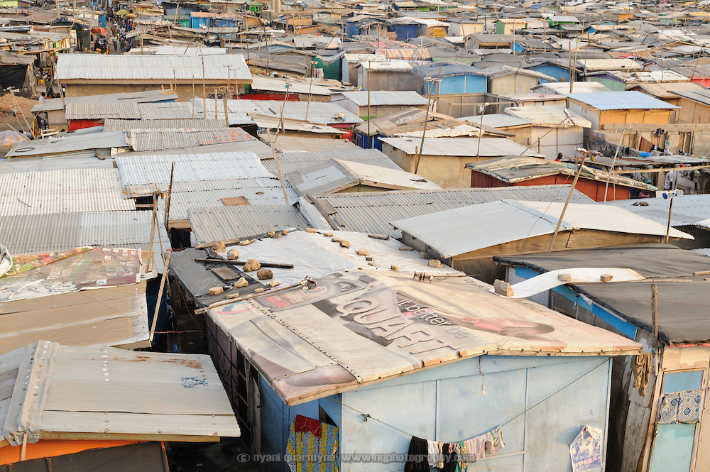Colloquially referred to as 'Sodom and Gomorrah, the slum of Old Fadama is located in Ghana's capital Accra and is home to some some 80,000 people.