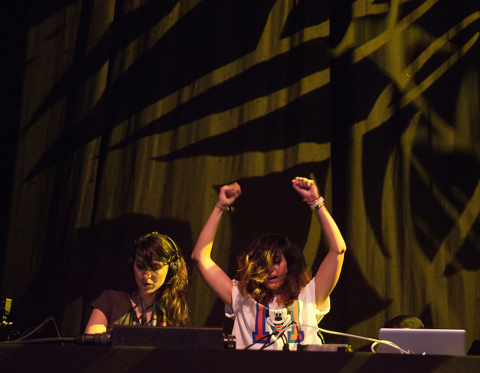 BARCELONA, SPAIN - JUNE 14:  Sara Reig (L) and Gemma Thuggie (R), of Thug Ladies, perform at Sonar on June 14, 2013 in Barcelona, Spain.  (Photo by Miguel Pereira/WireImage)