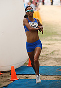 NELSPRUIT, SOUTH AFRICA - NOVEMBER 04: Nolene Conrad of Western Province Athletics finishes second in 33:58 during the ASA 10km Championships on Saturday November 04, 2017 in Nelspruit, South Africa. <br /> (Photo by Roger Sedres/ImageSA/Gallo Images)