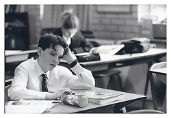 Picture by Mark Larner. Picture shows history teacher Mr. Mead giving a lesson at Bearwood College, a boarding school in Wokingham. 1997.