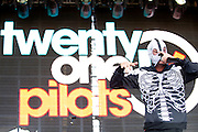 Twenty One Pilots performs at Suburbia Fest in Plano, Texas on May 4, 2014.
