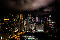 cityscape at night on Victoria Park Causeway Bay in Hong Kong