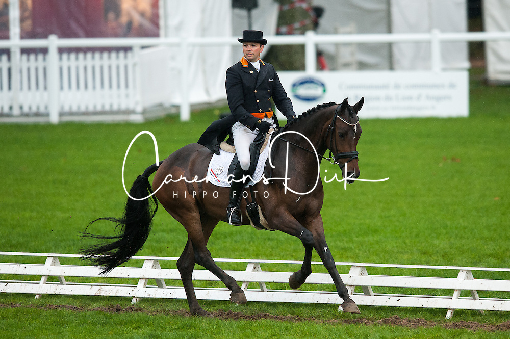 Van Beek Jan (NED) - Burgs Baileys<br /> FEI World Championship for Young Horses Le Lion d'Angers 2012<br /> © Hippo Foto - Jon Stroud