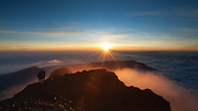 Sunrise view from top of Mount Rinjani in Lombok (Indonesia)