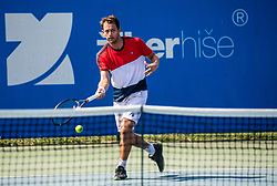Frederik Nielsen (DEN) in action during Day 5 at ATP Challenger Zavarovalnica Sava Slovenia Open 2018, on August 7, 2018 in Sports centre, Portoroz/Portorose, Slovenia. Photo by Vid Ponikvar / Sportida