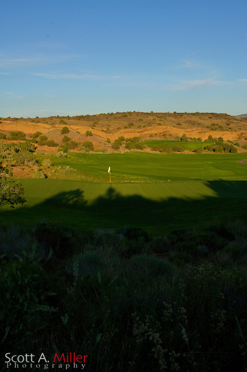 Albuquerque, N.M.:  July 9, 2006 -  No. 12 on the Twin Warriors Golf Club in Santa Ana Pueblo, N.M...                ©2006 Scott A. Miller