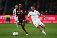SYDNEY, AUSTRALIA - JULY 20: Leeds United midfielder Kemar Roofe (7) chases the ball during the club friendly football match between Leeds United and Western Sydney Wanderers FC on July 20, 2019 at Bankwest Stadium in Sydney, Australia. (Photo by Speed Media/Icon Sportswire)
