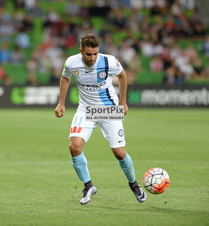 Michael Zullo of Melbourne City - Hyundai A-League, January 2nd 2016, RD13 match between Melbourne City FC V Sydney FC at Aami Park, Melbourne, Australia in a 2:2 draw. © Mark Avellino | SportPix.org.uk
