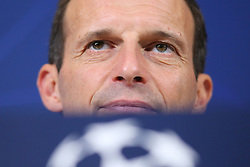 October 1, 2018 - Turin, Piedmont, Italy - Massimiliano Allegri, head coach of Juventus FC, during the Juventus FC press conference on the eve of the UEFA Champions League match between Juventus FC and Berner Sport Club Young Boys at Allianz Stadium on October 01, 2018 in Turin, Italy. (Credit Image: © Massimiliano Ferraro/NurPhoto/ZUMA Press)