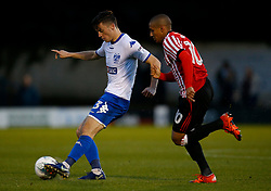 Callum Reilly of Bury and Wahbi Khazri of Sunderland - Mandatory by-line: Matt McNulty/JMP - 10/08/2017 - FOOTBALL - Gigg Lane - Bury, England - Bury v Sunderland - Carabao Cup - First Round