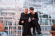 CARSTEN MCALL; GARETH PUGH; , The Serpentine Summer Party 2013 hosted by Julia Peyton-Jones and L'Wren Scott.  Pavion designed by Japanese architect Sou Fujimoto. Serpentine Gallery. 26 June 2013. ,