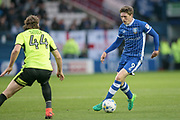 Adam Reach (Sheffield Wednesday) runs with the ball and is faced by Huddersfield Town defender Michael Hefele (44) during the EFL Sky Bet Championship play off second leg match between Sheffield Wednesday and Huddersfield Town at Hillsborough, Sheffield, England on 17 May 2017. Photo by Mark P Doherty.