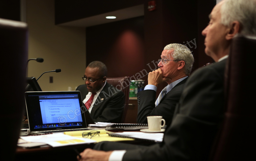 Brian Fannon (center) during the CMU Board of Trustees meeting in the University Center on Thursday September 19, 2013.