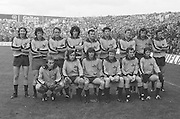 The Dublin team before the All Ireland Senior Gaelic Football Final, Kerry v Dublin in Croke Park on the 28th September 1975. Kerry 2-12 Dublin 0-11.<br />