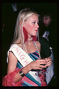 Jane French at Piers Gaveston Ball. Oxford Town Hall. 1981 approx© Copyright Photograph by Dafydd Jones 66 Stockwell Park Rd. London SW9 0DA Tel 020 7733 0108 www.dafjones.com