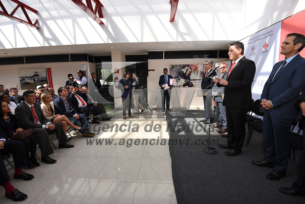 Toluca, México (Noviembre 07, 2016).- César Nomar Gómez Monge, Secretario de Salud  durante la Primera Reunión Regional Sobre Migración, teniendo como sede el CENCAD.  Agencia MVT / Crisanta Espinosa