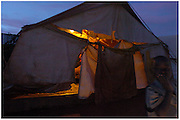 Bea Ahbeck/Fremont Argus<br /> <br /> Noah's Ark, one of the shelters provided for night commuters in Gulu, Northern Uganda Saturday morning, October 29, 2005. Thousands of children make the commute every night from surrounding villages to avoid being abducted by the Lord's Resistance Army and turned into child soldiers or sex slaves. Joseph Kony's rebel army have abducted over 20,000 children in the last 18 years of war.
