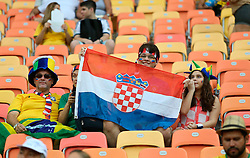 19.06.2014, Arena da Amazonia, Manaus, BRA, FIFA WM, Kamerun vs Kroatien, Gruppe A, im Bild Croatian fans // during Group A match between Cameroon and Croatia of the FIFA Worldcup Brasil 2014 at the Arena da Amazonia in Manaus, Brazil on 2014/06/19. EXPA Pictures © 2014, PhotoCredit: EXPA/ Pixsell/ Sanjin Strukic<br /> <br /> *****ATTENTION - for AUT, SLO, SUI, SWE, ITA, FRA only*****