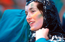 IRELAND DUBLIN 17MAR00 - Sinhead Murphy (17), gets ready for the carneval festivities during the St. Patrick's Day celebrations in Dublin...jre/Photo by Jiri Rezac..© Jiri Rezac 2000..Contact: +44 (0) 7050 110 417.Mobile:  +44 (0) 7801 337 683.Office:  +44 (0) 20 8968 9635..Email:   jiri@jirirezac.com.Web:     www.jirirezac.com..© All images Jiri Rezac 2000 - All rights reserved.