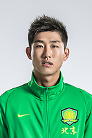 **EXCLUSIVE**Portrait of Chinese soccer player Hu Yanqiang of Beijing Sinobo Guoan F.C. for the 2018 Chinese Football Association Super League, in Shanghai, China, 22 February 2018.
