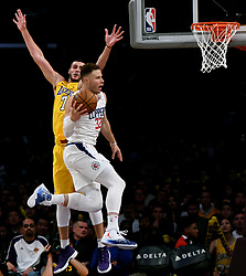 December 29, 2017 - Los Angeles, California, U.S. - LA Clippers forward BLAKE GRIFFIN (32) drives to the basket past Los Angeles Lakers forward LARRY NANCE JR. (7) in the second half of a NBA Basketball game at Staples Center. LA Clippers won 121-106. (Credit Image: © Keith Birmingham/SCNG via ZUMA Wire)