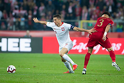 October 11, 2018 - Chorzow, Slask, Poland - Robert Lewandowski, Pepe (Kepler Laveran de Lima Ferreira) during the UEFA Nations League A soccer match between Poland and Portugal at Silesian Stadium in Chorzow, Poland on 11 October 2018  (Credit Image: © Mateusz Wlodarczyk/NurPhoto via ZUMA Press)