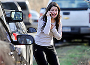 Carlee Soto reacts as she learns her sister, Victoria Soto, a teacher at the Sandy Hook Elementary School, was one of 26 people killed in a shooting at the school in Newtown, Conn., Friday, Dec. 14, 2012. A gunman killed over two dozen people, including 20 children. Victoria Soto, 27, was among those killed.(AP Photo/Jessica Hill)