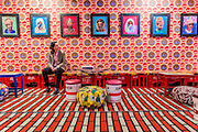 An installation byHassan Hajjaj as part of Photo50. London Art Fair opens at the Business Design Centre, Islington, London.