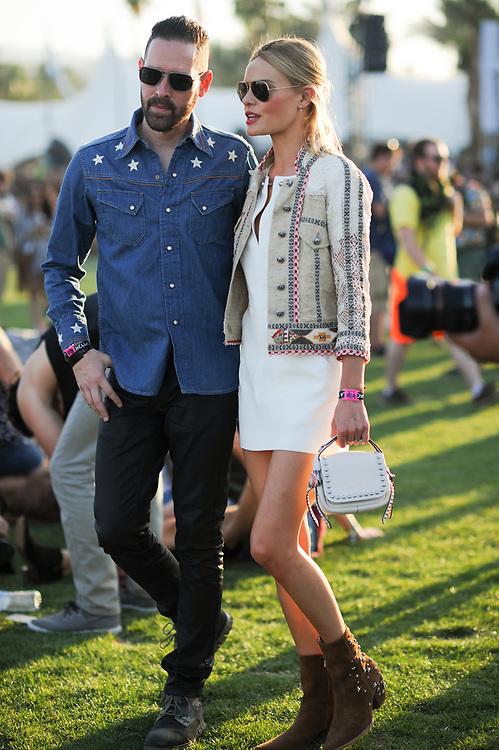 Kate Bosworth and Michael Polish at Coachella 2015 Day 2