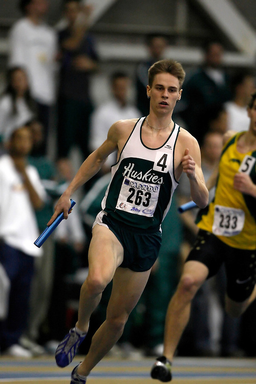 Windsor, Ontario ---14/03/09--- Iain McCormick of  the University of Saskatchewan competes in the 4x400m relay at the CIS track and field championships in Windsor, Ontario, March 14, 2009..Claus Andersen Mundo Sport Images
