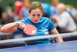 Barbara Meglic of Slovenia in action during 15th Slovenia Open - Thermana Lasko 2018 Table Tennis for the Disabled, on May 9, 2018, in Dvorana Tri Lilije, Lasko, Slovenia. Photo by Vid Ponikvar / Sportida