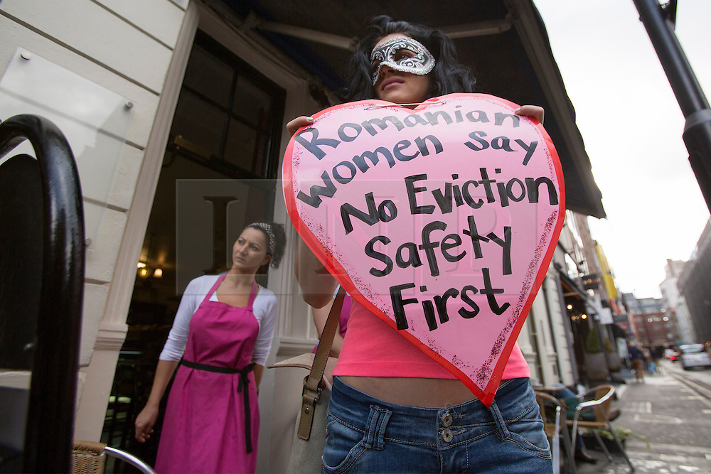© licensed to London News Pictures. London, UK 09/10/2013. Soho sex workers and supporters protest against evictions and the changes being made in Soho by hotel and restaurant developers. Photo credit: Tolga Akmen/LNP